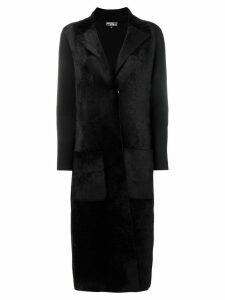 Salvatore Ferragamo single-breasted coat - Black