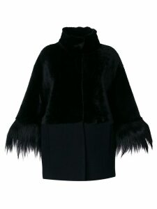 Drome high neck coat - Black