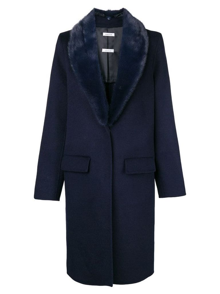 P.A.R.O.S.H. silhouette fitted coat - Blue