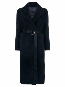Blancha belted midi coat - Blue