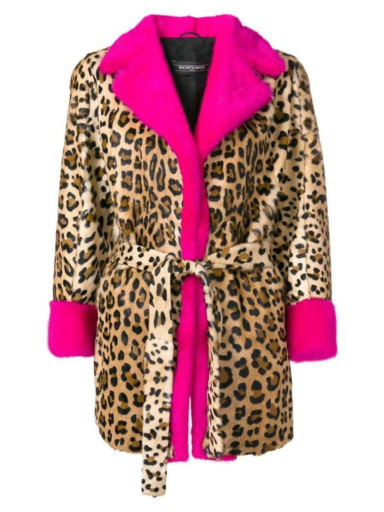 Simonetta Ravizza leopard print fur coat - Brown