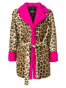 Simonetta Ravizza leopard print fur coat - Brown