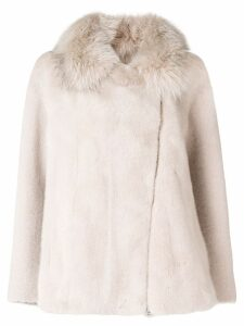 Blancha mink fur coat - Neutrals