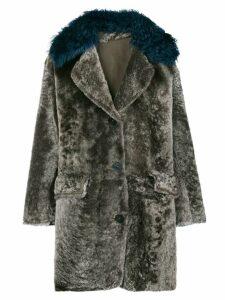 Sylvie Schimmel contrast collar coat - Grey
