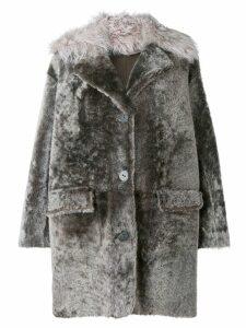 Sylvie Schimmel mid-length buttoned coat - Grey