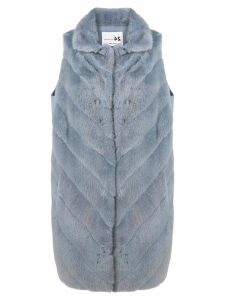 Manzoni 24 sleeveless loose coat - Blue