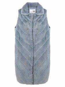 Manzoni 24 sleeveless loose coat - Blue