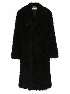 Saint Laurent faux-shearling coat - Black