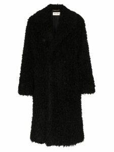 Saint Laurent faux-shearling coat - Black