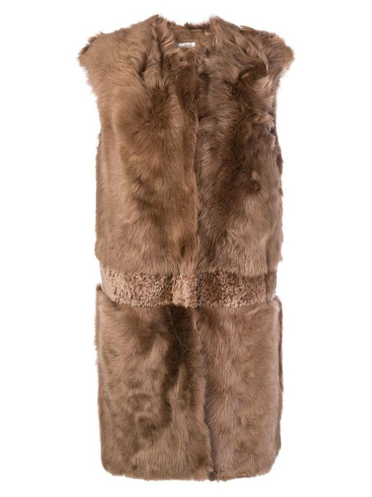 Desa 1972 sleeveless coat - Brown