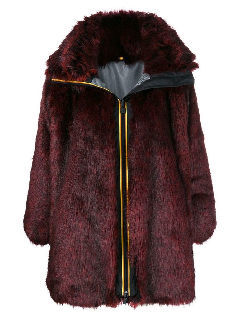 Faith Connexion faux fur coat - Red