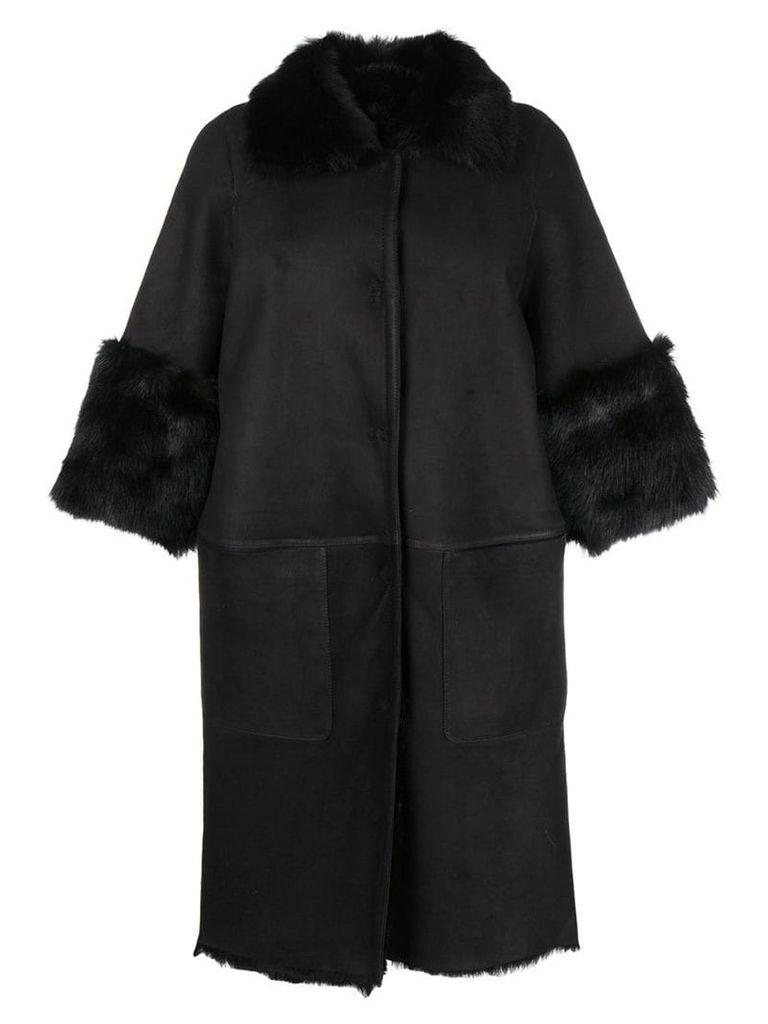 Desa 1972 cocoon coat - Black