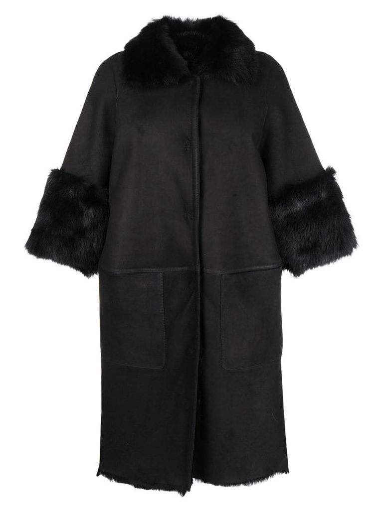 Desa 1972 cocoon coat - Black