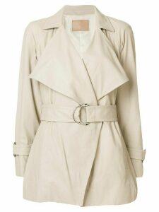 Drome belted short coat - Neutrals