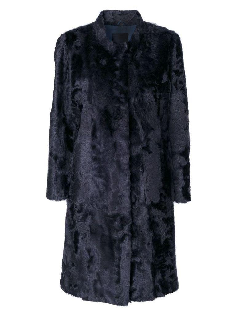Liska panelled midi coat - Blue