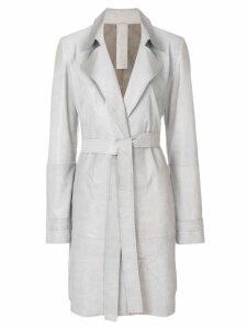 Vanderwilt belted midi coat - Grey
