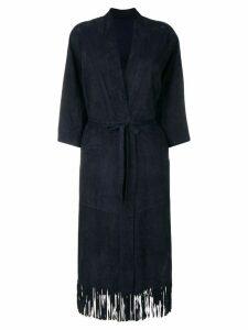 Salvatore Santoro belted coat - Blue