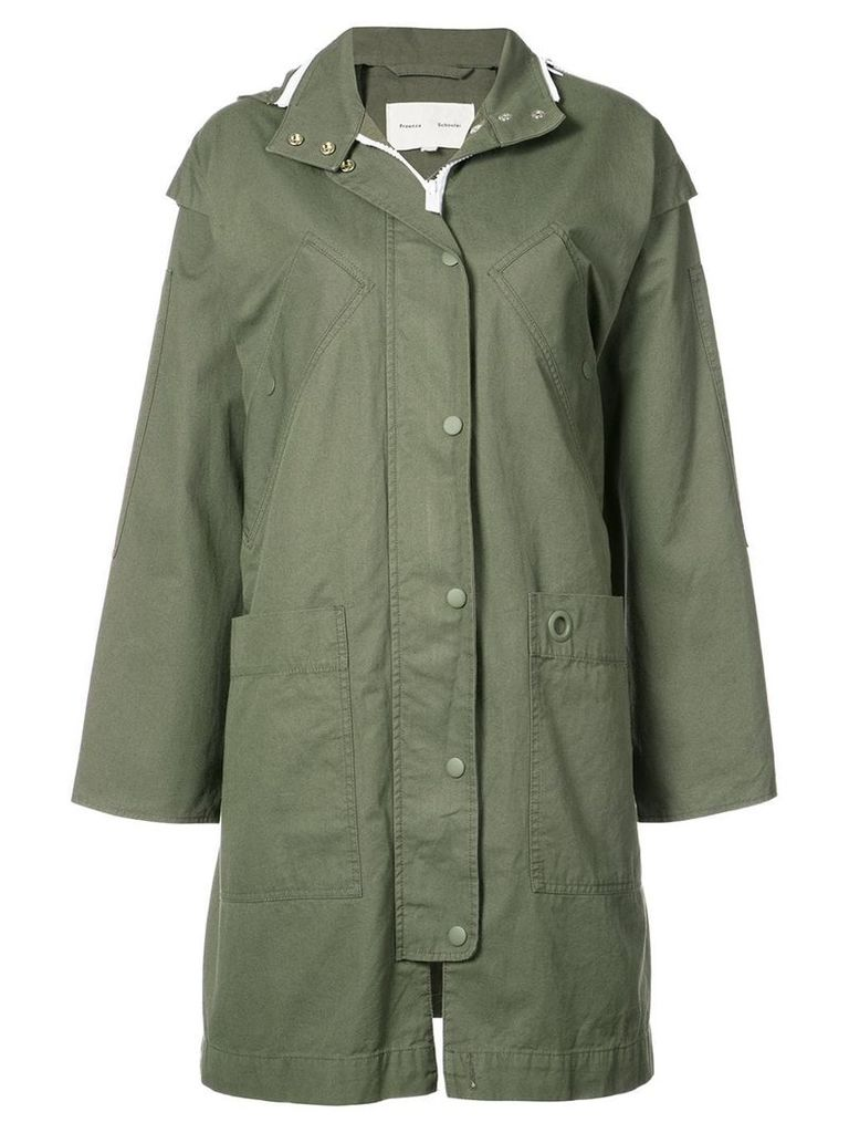 Proenza Schouler PSWL Anorak Coat - Green