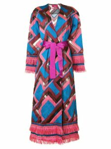F.R.S For Restless Sleepers chevron print robe coat - Pink