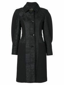 Etro paisley puff sleeve coat - Black