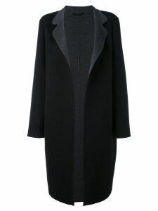 Liska oversized coat - Schwarz/Grau