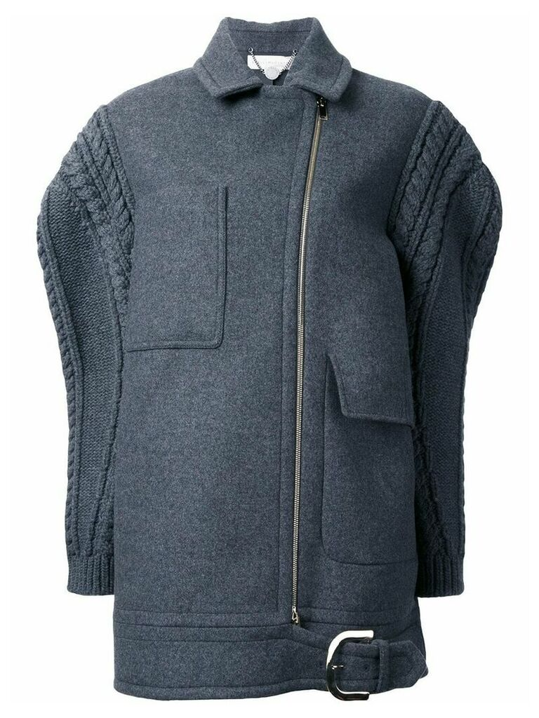 Stella McCartney oversize knit sleeve coat - Grey