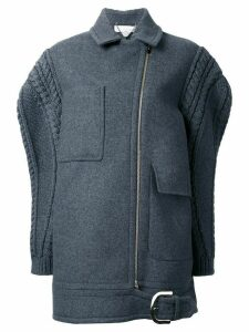 Stella McCartney oversize knit sleeve coat - Grey