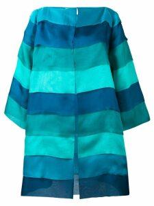 Gianluca Capannolo striped oversized coat - Blue