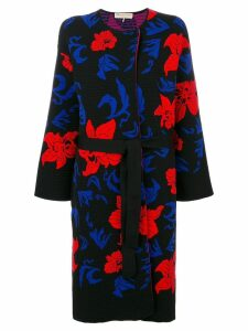 Emilio Pucci knit belted overcoat - Black