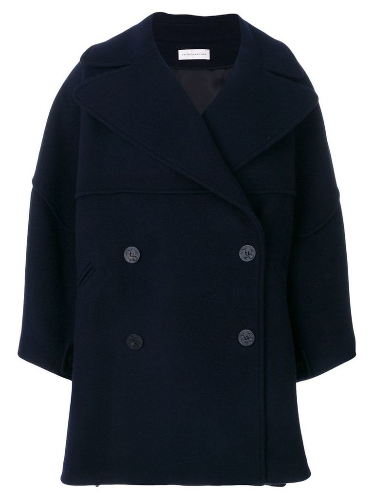 Faith Connexion oversized sleeve coat - Blue