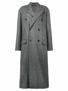 Rokh double breasted coat - Black
