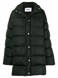 MSGM oversized padded coat - Black