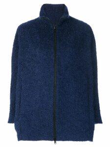 Gianluca Capannolo knit zipped coat - Blue