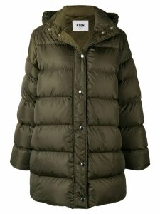 MSGM oversized padded coat - Green
