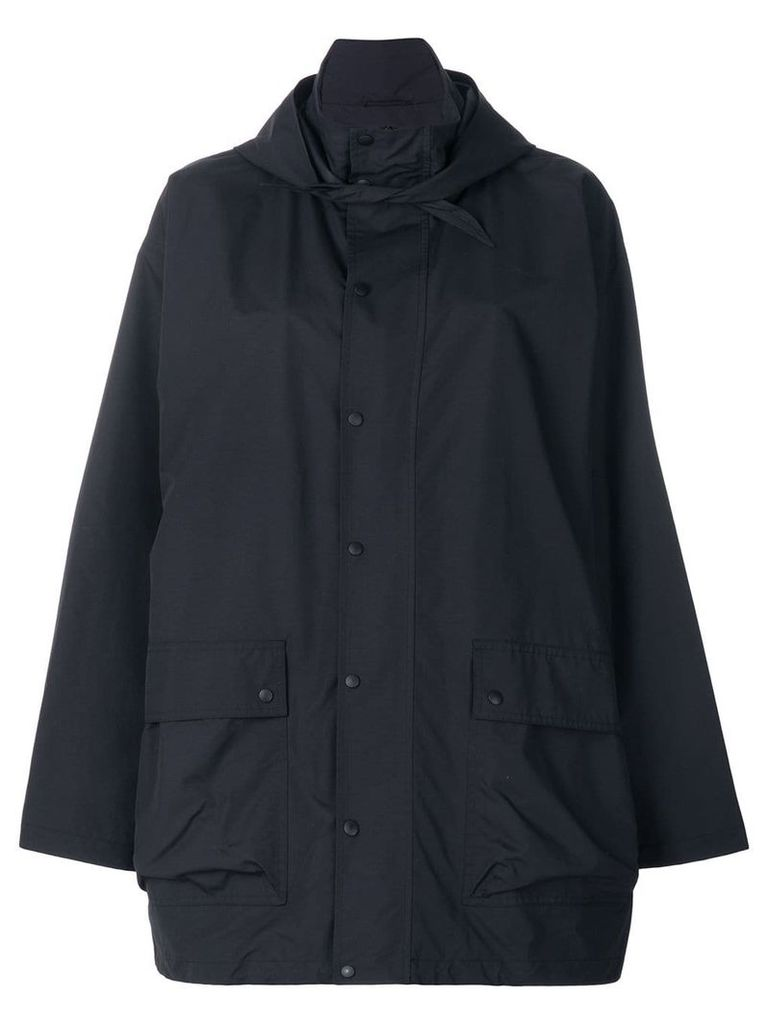 Balenciaga oversized raincoat - Blue