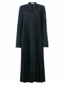 Jil Sander pleated duster coat - Blue