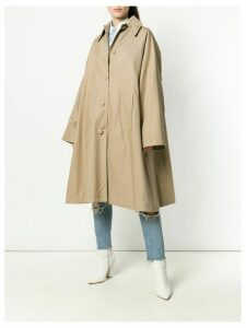 Mm6 Maison Margiela oversized swing coat - Neutrals