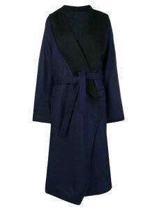 Nehera oversize belted coat - Blue