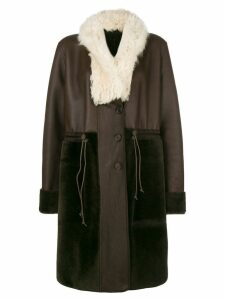 Chloé reversible oversized lambskin coat - Brown
