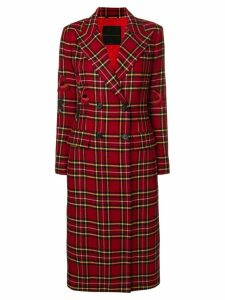 Ermanno Scervino double breasted long coat - Red