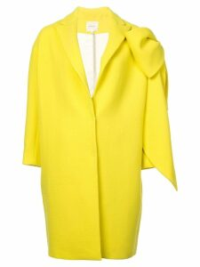 Delpozo bow-embellished cocoon coat - Yellow