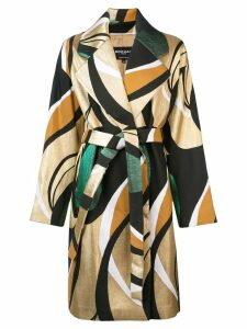 Rochas printed belted coat - Multicolour