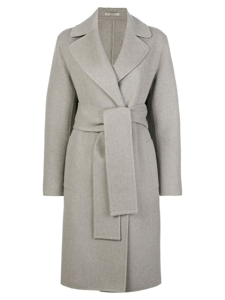 Bottega Veneta wrap coat - Grey
