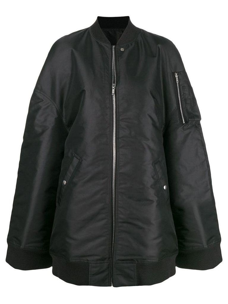 Rick Owens oversized bomber jacket - Black