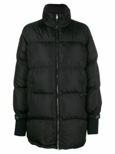Prada oversized zipped padded coat - Black