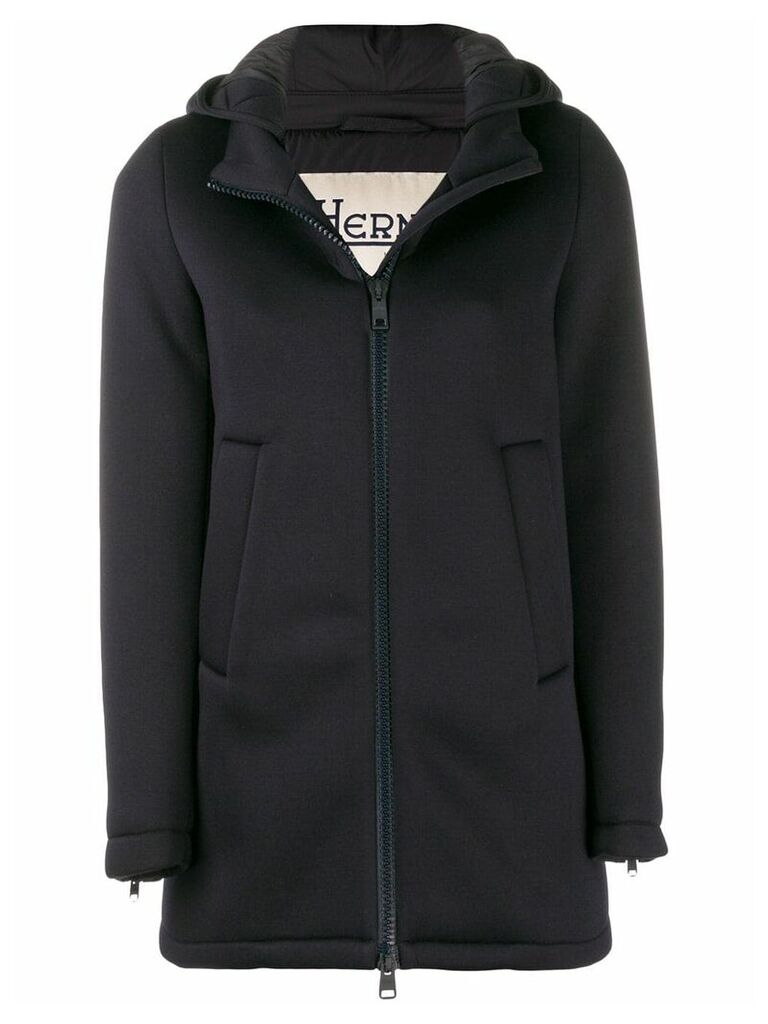 Herno hooded coat - Blue