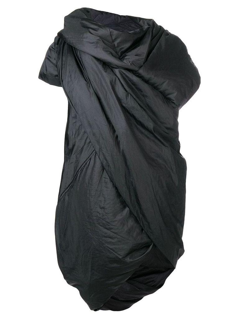 Rick Owens DRKSHDW padded wrap coat - Black