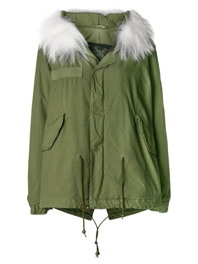 Mr & Mrs Italy fur hood short parka coat - 1000 White