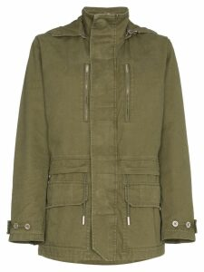 Saint Laurent short hooded parka - Green