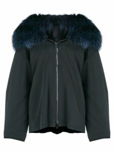 Liska fur hooded coat - Blue
